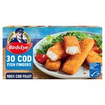 Birds Eye 30 Fish Fillet Fingers Cod