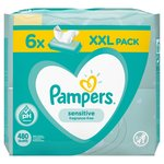 Pampers Sensitive Baby Wipes  6 x 80 per pack