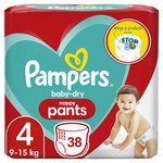 Pampers Baby - Dry Nappy Pants  Size 4 38 per pack