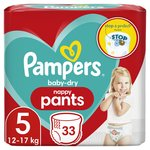 Pampers Baby - Dry Nappy Pants Size 5