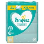 Pampers Sensitive Baby Wipes  4 x 80 per pack