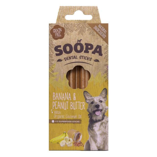 Soopa Banana & Peanut Butter Dental Stick Dog Treat