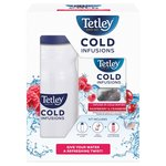 Tetley Cold Infusions Bottle With Raspberry & Cranberry Teabags