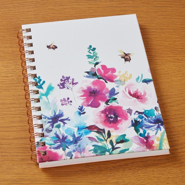 Morrisons A5 Floral Wiro Notebook