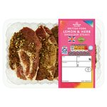 Morrisons British Pork Shoulder Steaks With Lemon Garlic & Herb