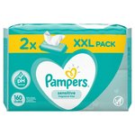 Pampers Sensitive Baby Wipes  2 x 80 per pack