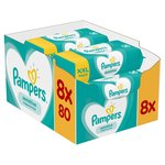 Pampers Sensitive Fragrance - Free Baby Wipes 8 x 80 per pack