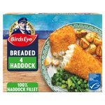 Birds Eye Breaded Haddock 4 Large Fillets