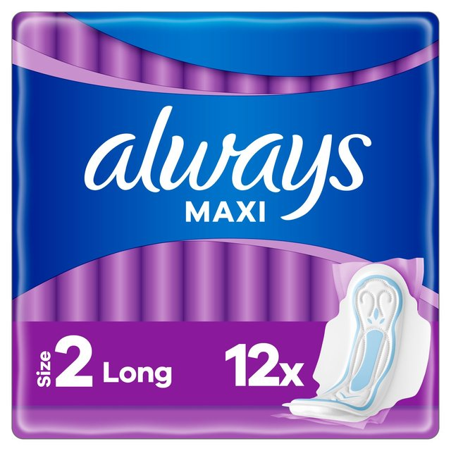 Always Maxi Long (Size2) Sanitary Towels Wings 12 pads