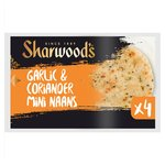 Sharwood's 4 Garlic & Coriander Mini Naans