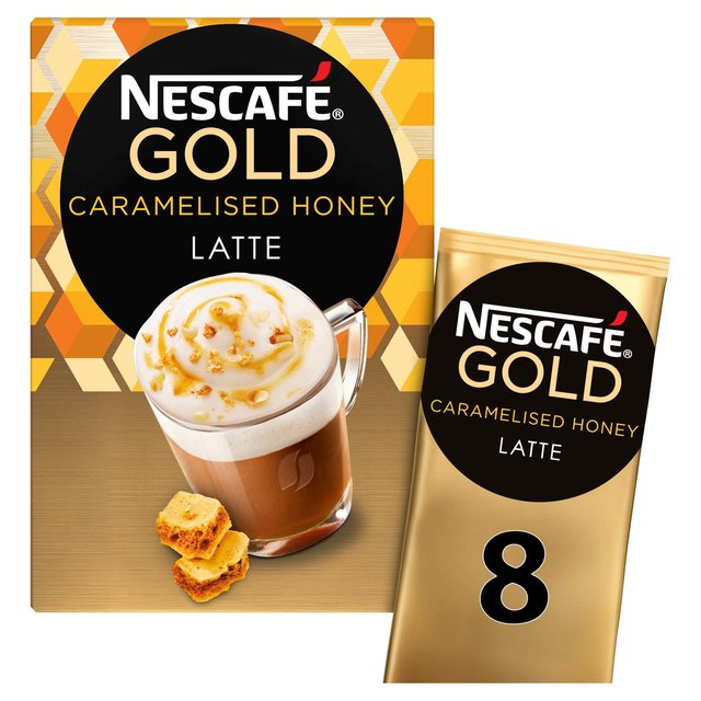 Nescafe Gold Caramelised Honey Latte 8 Mugs