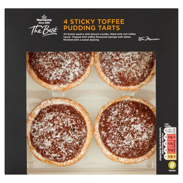 Morrisons The Best  Sticky Toffee Pudding Tarts