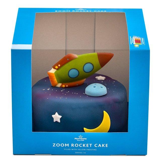 Surprising Morrisons Zoom Rocket Cake Morrisons Funny Birthday Cards Online Hendilapandamsfinfo