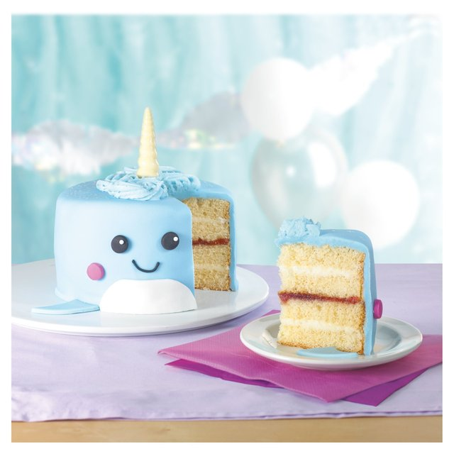 Wondrous Morrisons Wally The Narwhal Cake Morrisons Funny Birthday Cards Online Hetedamsfinfo
