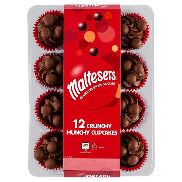 Maltesers Double Chocolate Cupcakes 12 Cupcakes