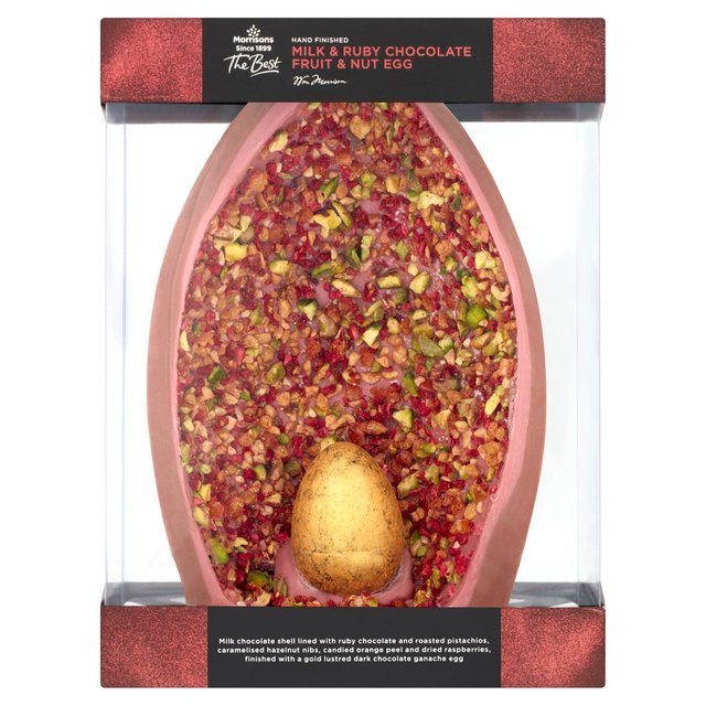Morrisons The Best Ruby Chocolate Half Egg