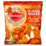Birds Eye 50 Chicken Nuggets With Golden Wholegrain