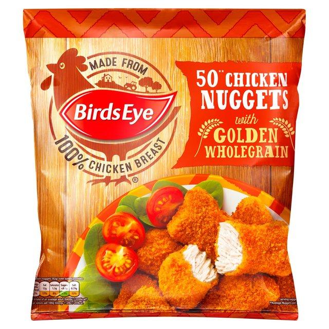 Birds Eye 50 Chicken Nuggets With Golden Wholegrain