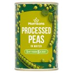 Morrisons Small Processed Peas In Water (300g)
