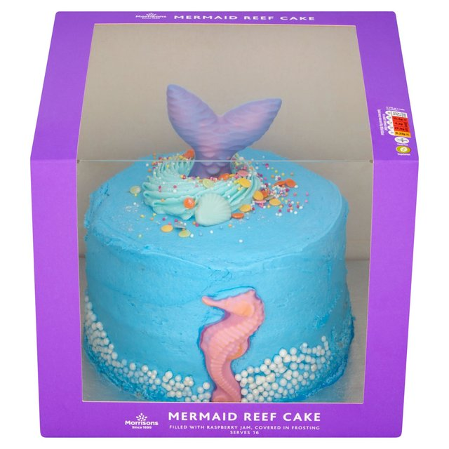 Fabulous Morrisons Mermaid Celebration Cake Morrisons Personalised Birthday Cards Veneteletsinfo