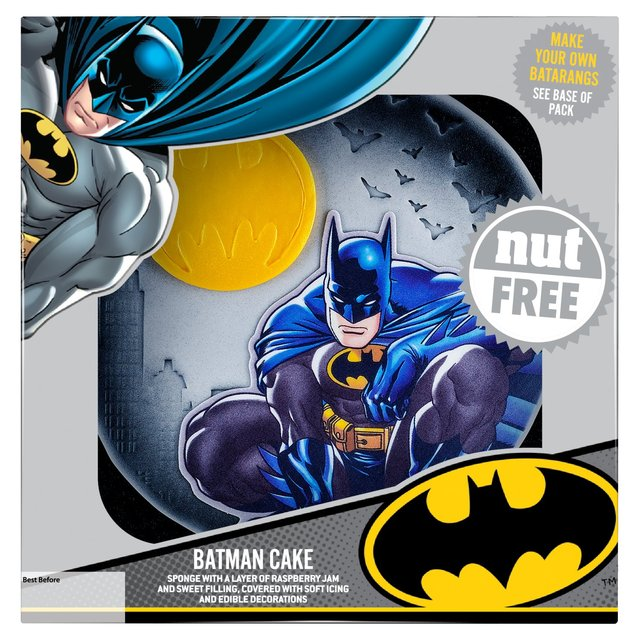 Awesome Dc Comics Batman Cake Morrisons Personalised Birthday Cards Veneteletsinfo