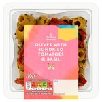 Morrisons Pitted Green Olives With Sundried Tomato