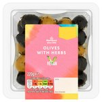 Morrisons Pitted Black & Green Olives With Mediterranean Herbs