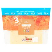 Morrisons 30% Lighter Mature Cheddar