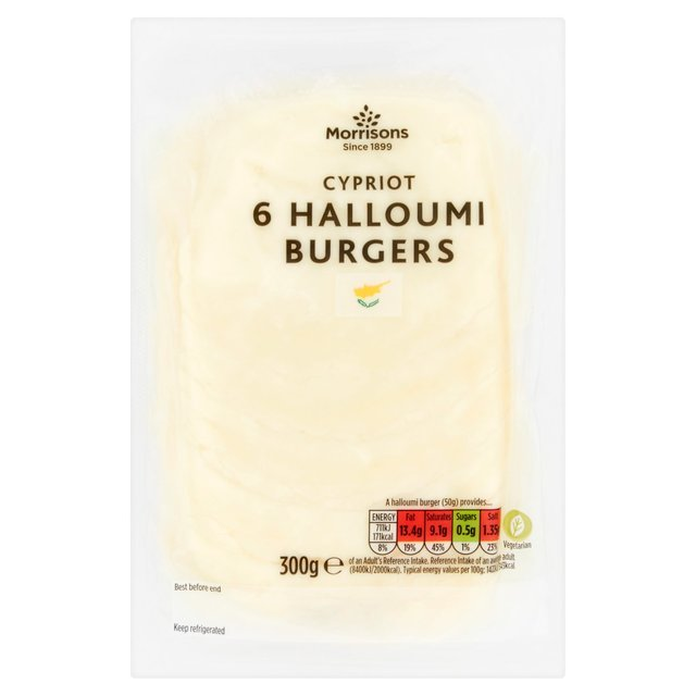 Morrisons 6 Halloumi Burger Slices
