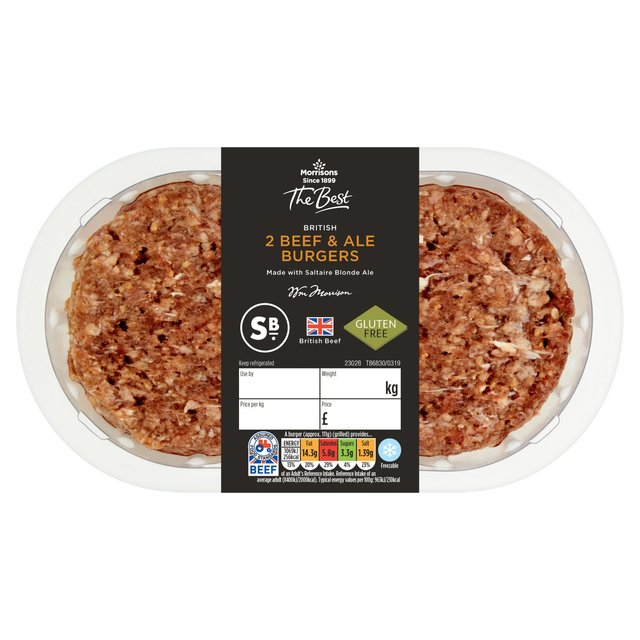 Morrisons The Best 2 British Beef & Ale Burgers