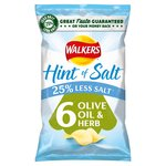 Walkers Hint Of Salt Olive Oil & Herb