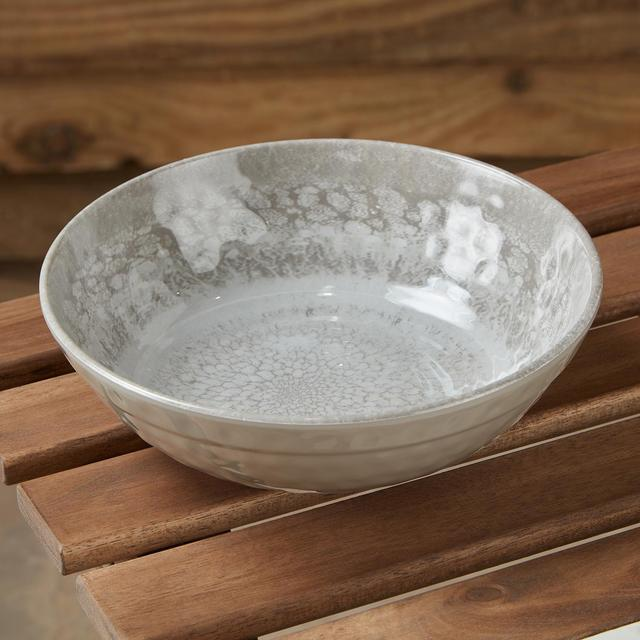 Morrisons Crackle Large Bowl Stone
