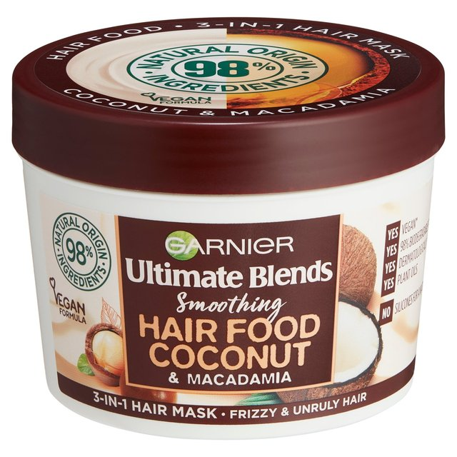 Garnier Ultimate Blends Hair Food Coconut Oil 3 In 1 Frizzy Hair Mask