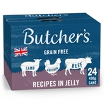 Butcher's Recipes in Jelly Dog Food Tins 24x400g