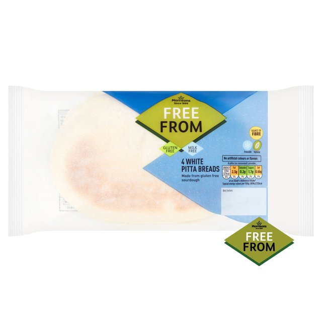 Morrisons Free From 4 White Pitta Breads