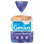 Genius Plain Bagels 4 Pack