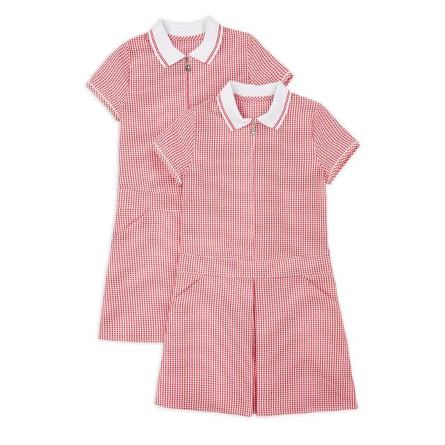 NUTMEG RED SPORTY DRESS 2PK 10-11 Years