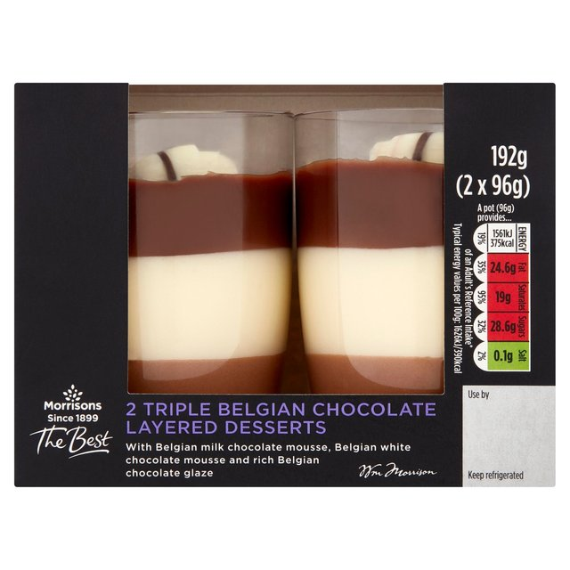 Morrisons The Best Triple Chocolate Layer Pots