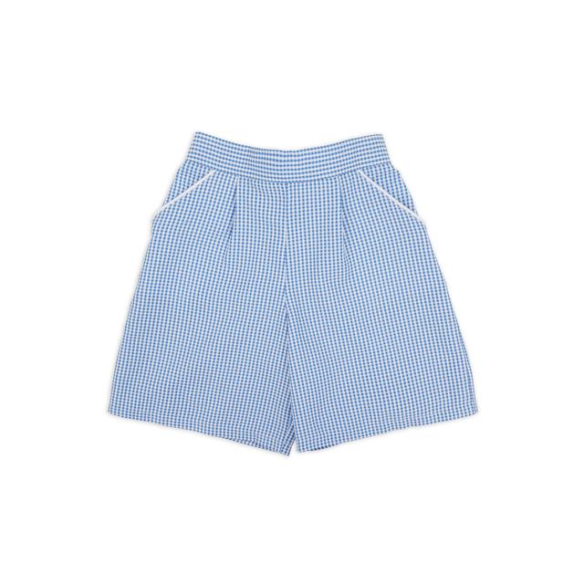 NUTMEG BLUE GINGHAM SHORTS 6-7 Years