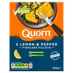 Quorn 2 Breaded Fishless Fillets With A Lemon & Pepper Breadcrumb 200G