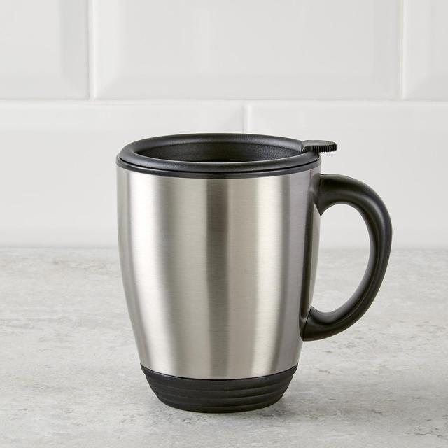 Morrisons Stainless Steel Desk Mug With Handle