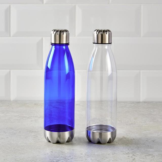 Morrisons Clear Milk Bottle Shape Water Bottle With Lid