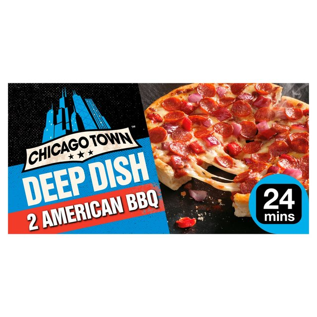 Chicago Town 2 Deep Dish American BBQ Pizzas