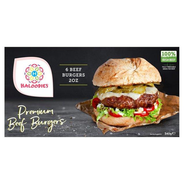 Haloodies 6 Beef Burgers