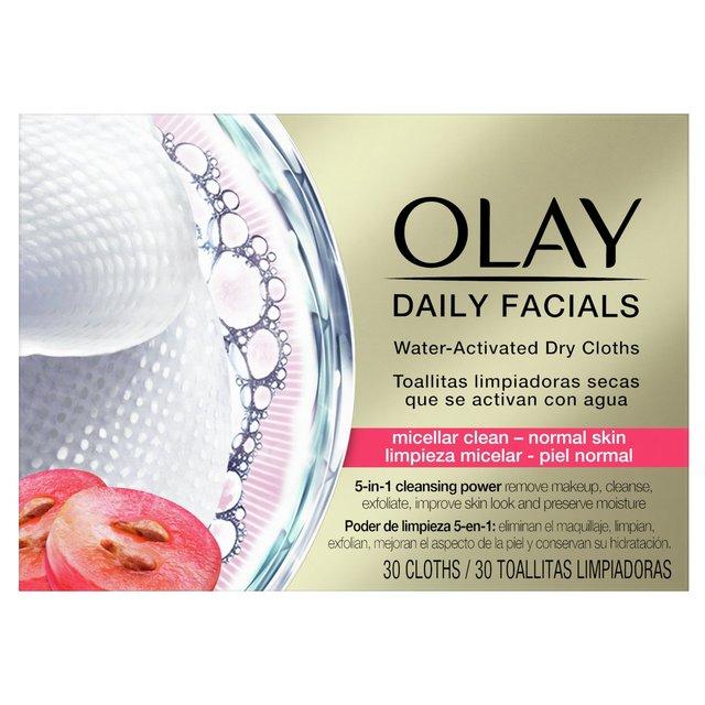 Olay Daily Facials Face Wipes Micellar Clean Normal Skin 30 Cloths