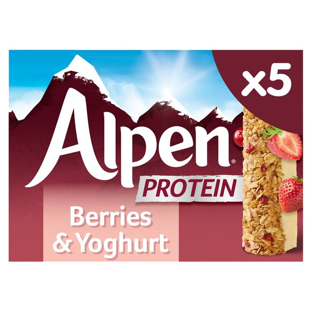MORRISONS > Food Cupboard > Alpen Protein Cereal Bars Berries & Yoghurt