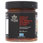 Morrisons The Best Pitted Halkidiki & Kalamata Olives With Chilli & Garlic