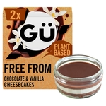 Gu Fabulously Free From 2 Chocolate & Vanilla Cheesecakes