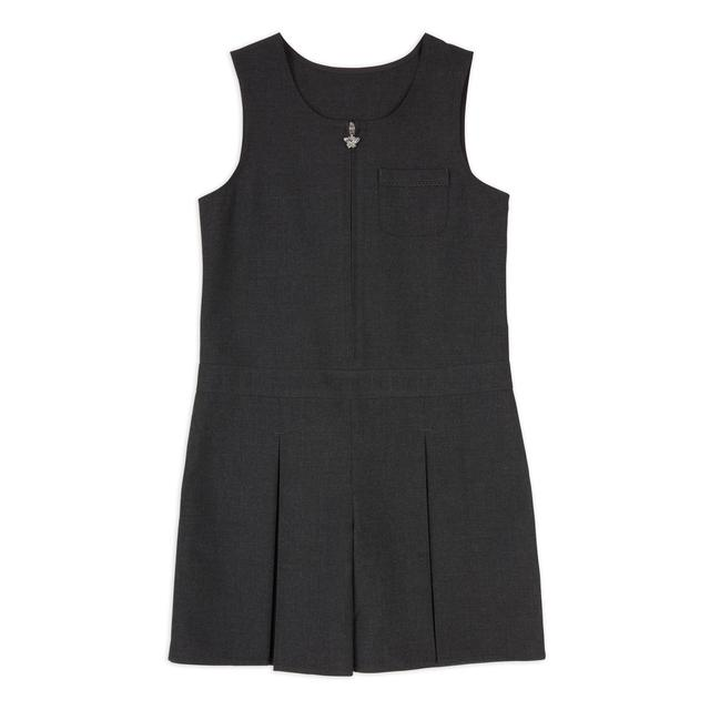 Nutmeg Girls Charcoal Woven Playsuit