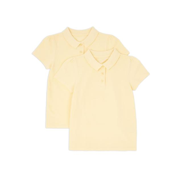 Nutmeg Girls Yellow Polos 2 Pack 4 - 5 Years